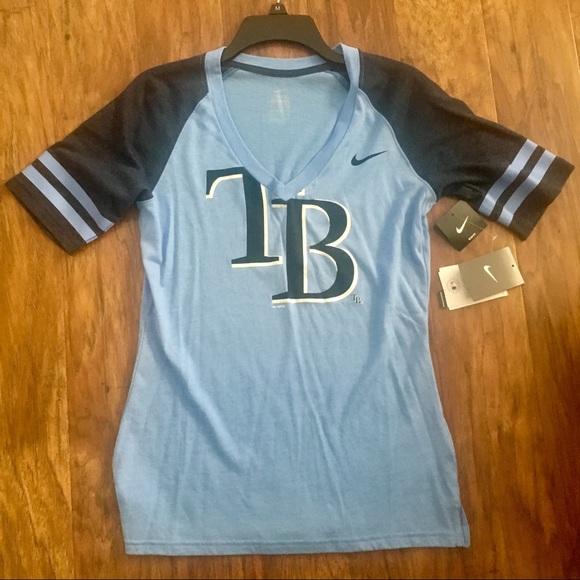 on sale ebfed ef0d7 Tampa Bay Rays Striped Sleeve Shirt. NWT. Nike MLB